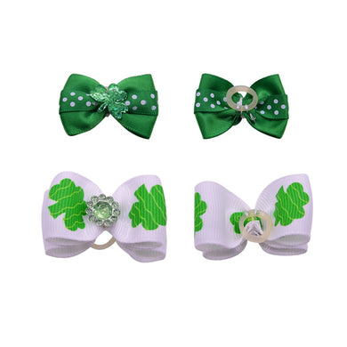 St. Patrick's Day Dog Hair bows - 12pcs