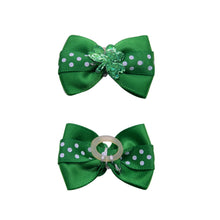 Load image into Gallery viewer, St. Patrick's Day Dog Hair bows - 12pcs