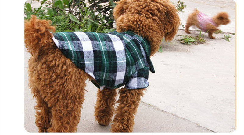 Dog Plaid Shirt
