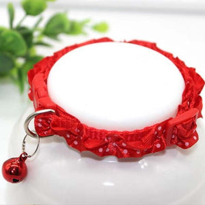 Dog Collar - Lace Adjustable with Bell