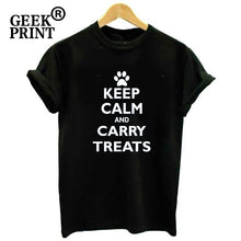 Load image into Gallery viewer, T-Shirt, Keep Calm and Carry Treats