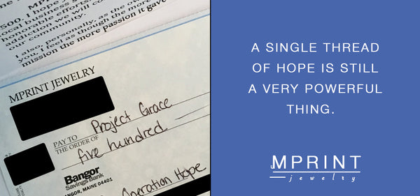 Giving - Operation HOPE x MPRINT Jewelry