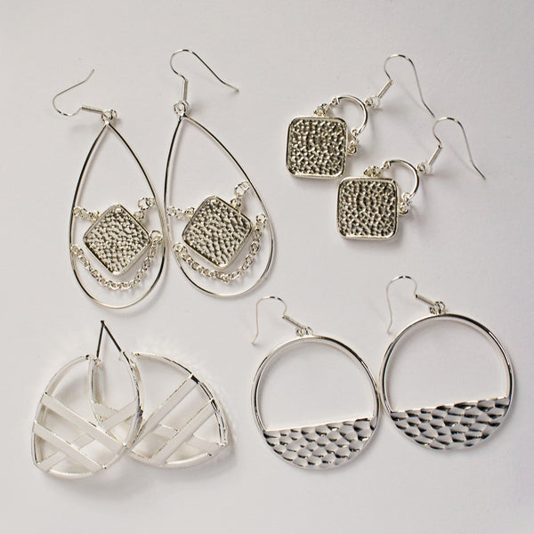 Silver Earring Set