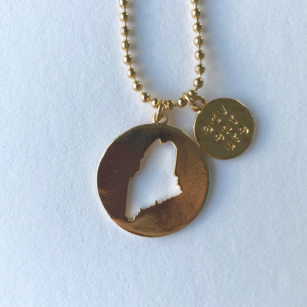 MAINE ADVENTURE CUTOUT PENDANT gold ball