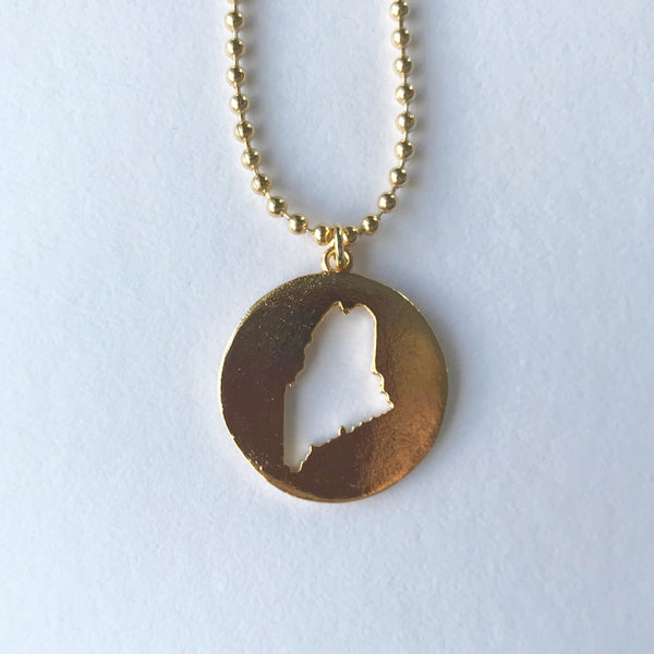 MAINE CUTOUT PENDANT gold ball