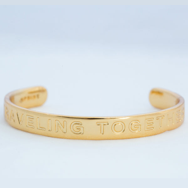 TRAVELING TOGETHER gold cuff