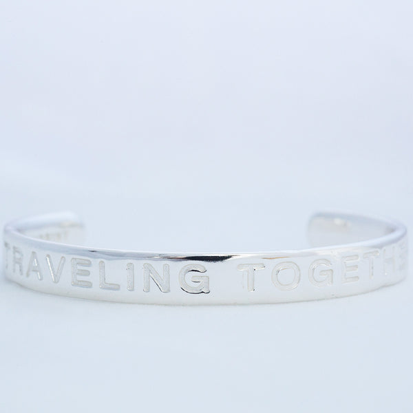 TRAVELING TOGETHER silver cuff