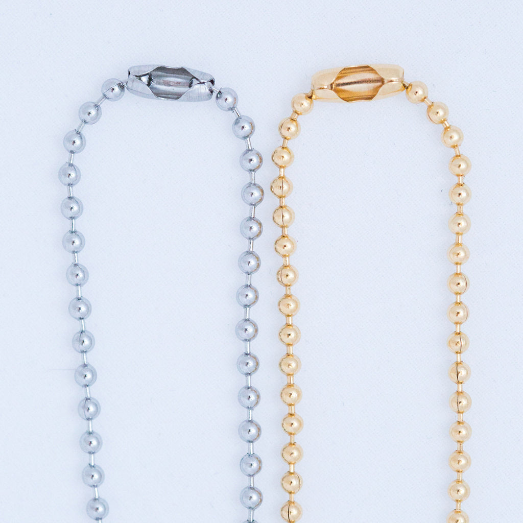 TRAVELING TOGETHER TUSK BALL CHAIN silver