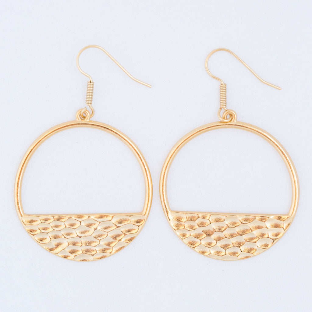 HAMMERED HOOPS gold