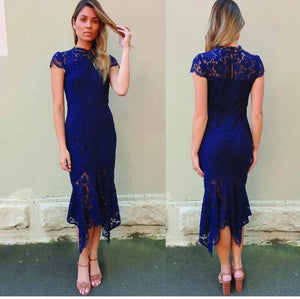 Ariana Navy Lace Dress