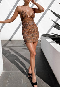 Angel Biba Jasmin Leopard dress
