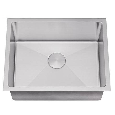"Allora USA - ADA-KH-3018-R15 - 30"" x 18"" x 5"" Handmade Undermount Single Bowl Stainless Steel Kitchen Sink"