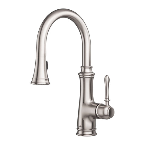 Allora USA - A-726-BN Kitchen Faucet - Single Handle Pull Down Sprayer - Brushed Nickel