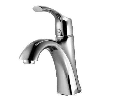 A-6550-C SINGLE HANDLE CHROME BATHROOM FAUCET TULIP SERIES - KralSu Sink and Faucet Supplies