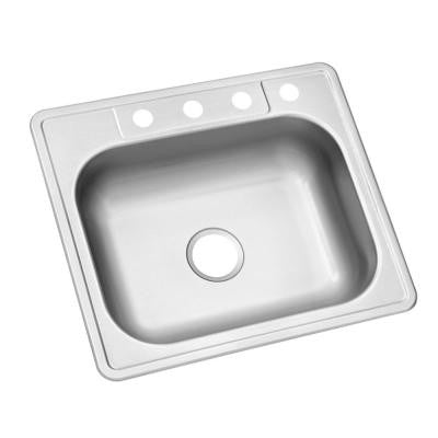 glacier bay top mount stainless steel 25 in 4 hole single bowl rh kralsu com glacier bay kitchen sink parts glacier bay kitchen sink accessories