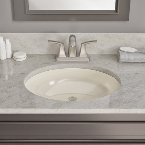 "Allora USA - VCS-1013B - 13"" x 10"" x 7"" Under-counter Series Vanity Sink - Biscuit"