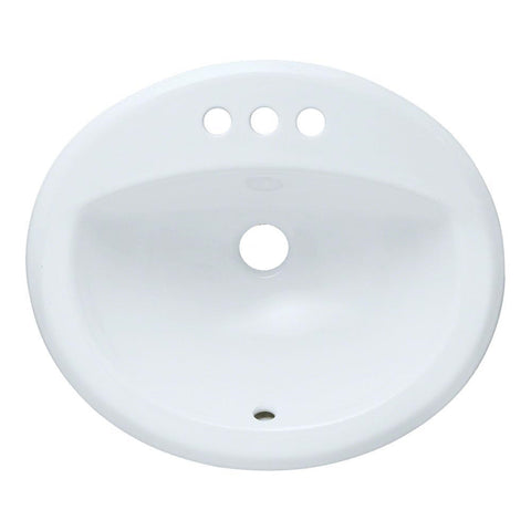 Allora USA ADA-VCS-2017-T White Oval Porcelain Top Mount Sink