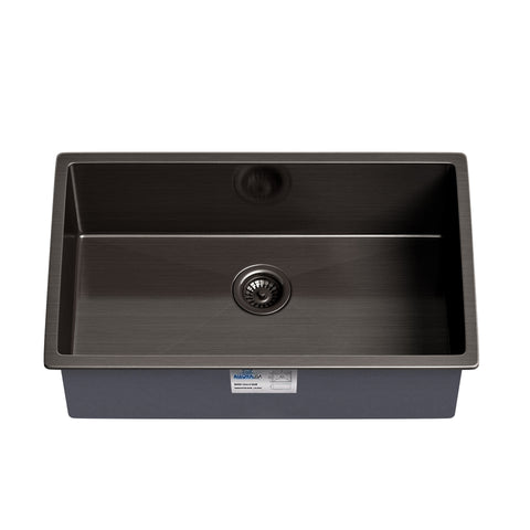 NEW! Allora USA KH-3018-R15-GM Gunmetal Black Matte Stainless Steel Handmade Sink