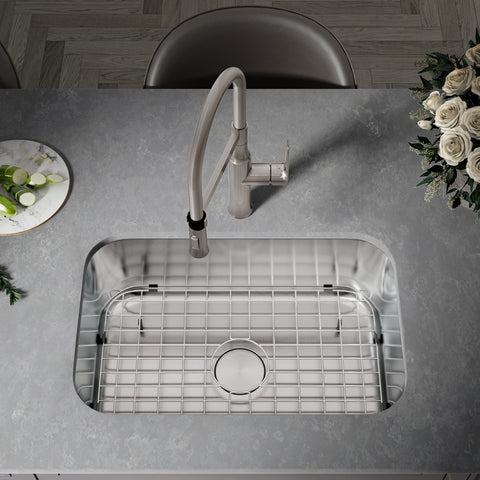 Allora USA - GR-2718 - Stainless Steel Sink Grid with Protective Bumpers and Feet