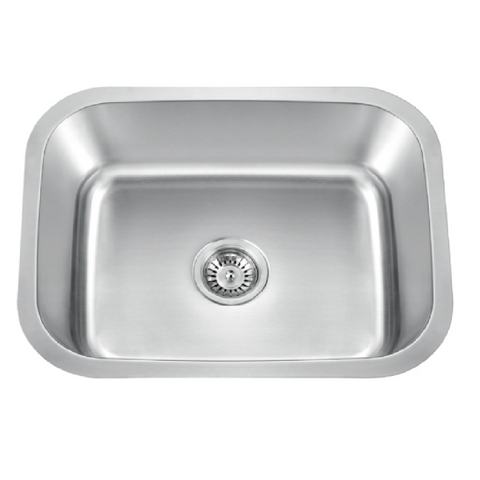 "NEW! Allora USA LS-2318 - 23"" x 18"" x 12"" Undermount Single Bowl Stainless Steel Laundry Sink"