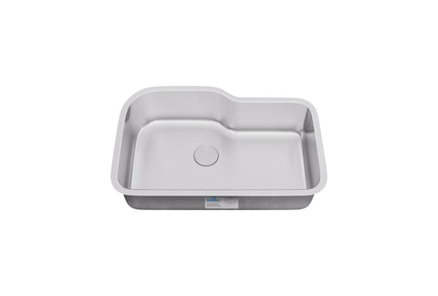 "Allora USA - ND-3222 Kitchen Sink - 32"" x 22"" x 9"" Under mount 18 gauge Stainless Steel Kitchen Sink - KralSu Sink and Faucet Supplies"