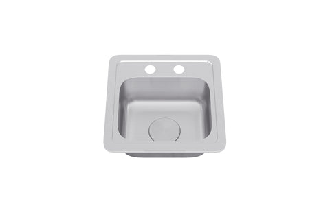 Allora USA - TOP-1210 - Top Mount Single Bowl Kitchen Sink - KralSu Sink and Faucet Supplies