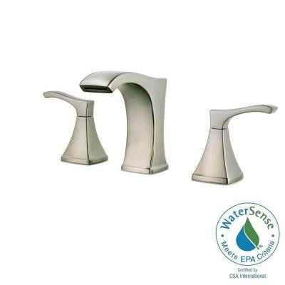 Pfister Venturi 8 in. Widespread 2-Handle Bathroom Faucet in Brushed Nickel - KralSu Sink and Faucet Supplies