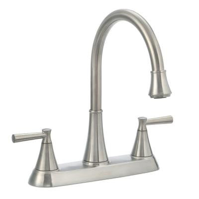 Pfister Cantara High-Arc 2-Handle Standard Kitchen Faucet with Side Sprayer in Stainless Steel