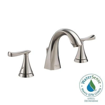 American Standard Chatfield 8 in. Widespread 2-Handle Bathroom Faucet in Brushed Nickel - KralSu Sink and Faucet Supplies
