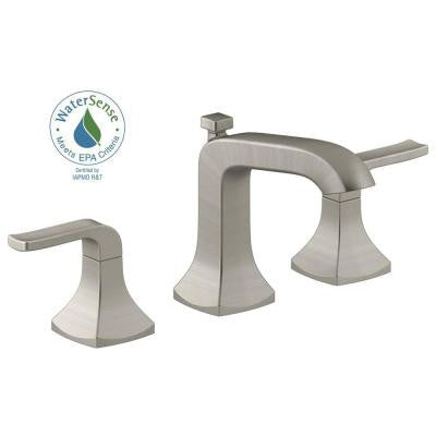 Kohler Rubicon 8 in. Widespread 2-Handle Bathroom Faucet in Vibrant Brushed Nickel - KralSu Sink and Faucet Supplies