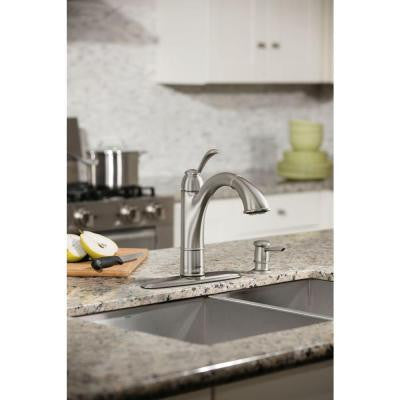Moen Walden Single Handle Pull Out Sprayer Kitchen Faucet