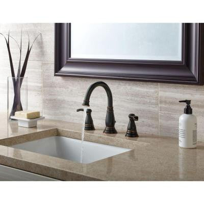 Widespread 2 Handle Bathroom Faucet In Oil Rubbed Bronze ...