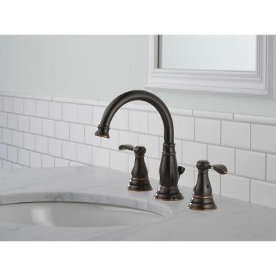 Delta porter 8 in widespread 2 handle bathroom faucet in oil rubbed b kralsu sink and faucet for Delta oil rubbed bronze bathroom faucet