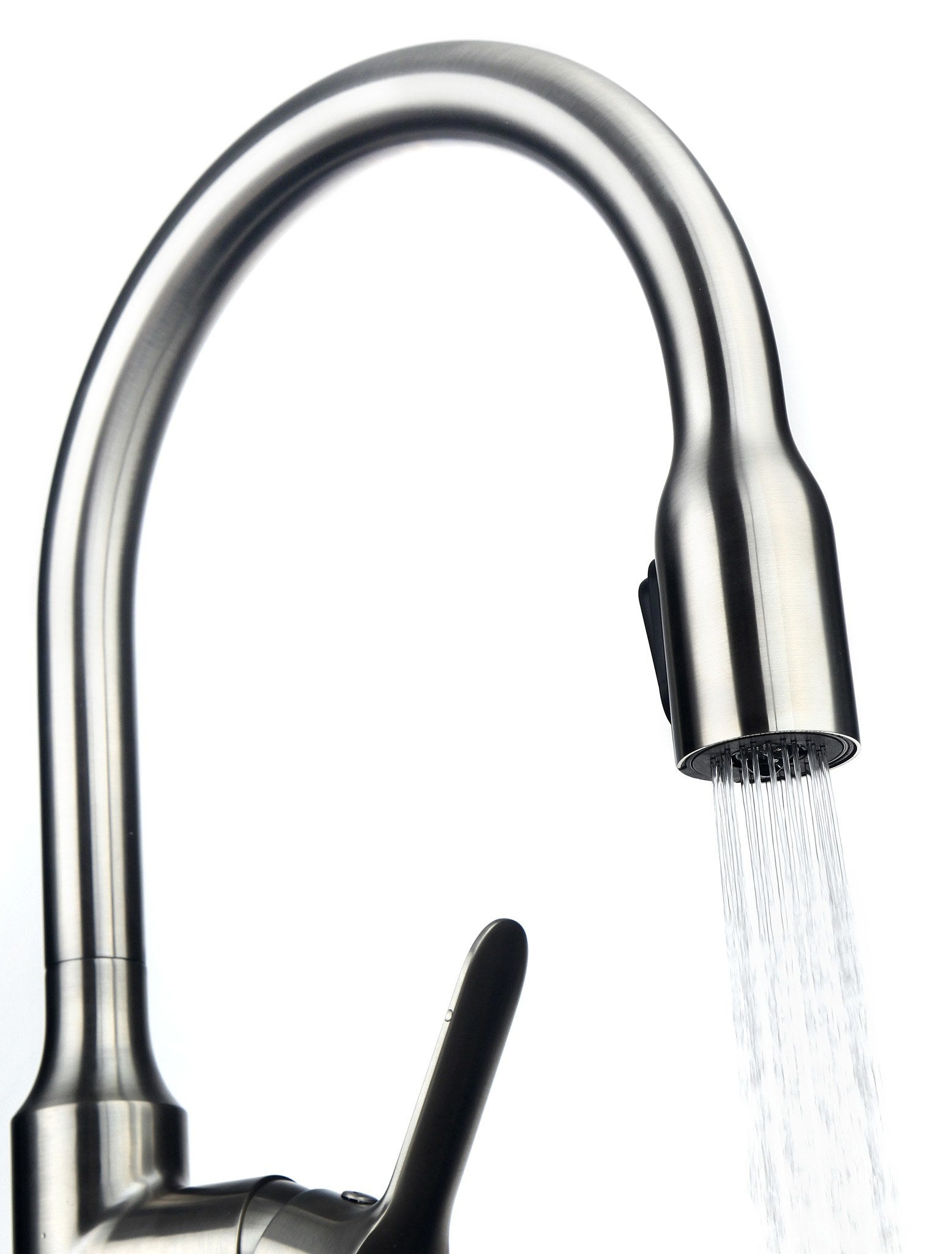 faucets allora usa a 715 bn kitchen single hole installation single handle pull out spout kitchen faucet brushed nickel 4