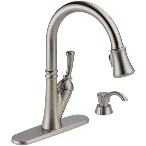 Faucets - Delta Savile Venetian Bronze 1-Handle Pull-Down Kitchen Faucet - Stainless