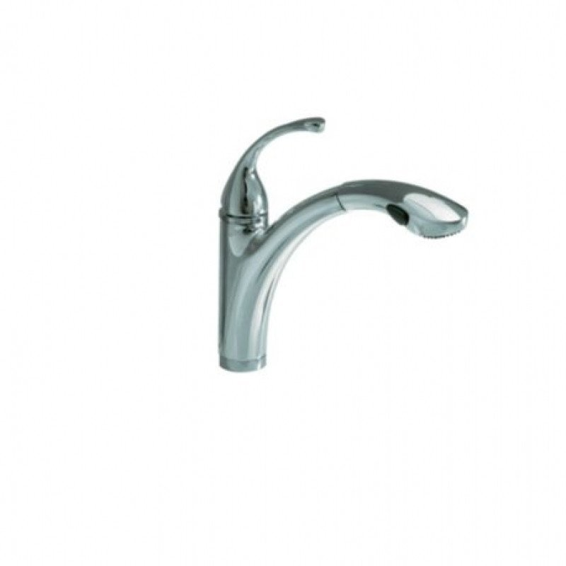 Kohler K-10433-CP Forte Polished Chrome Single-Hole or 3-Hole Kitchen Sink  Faucet with 10-1/8\