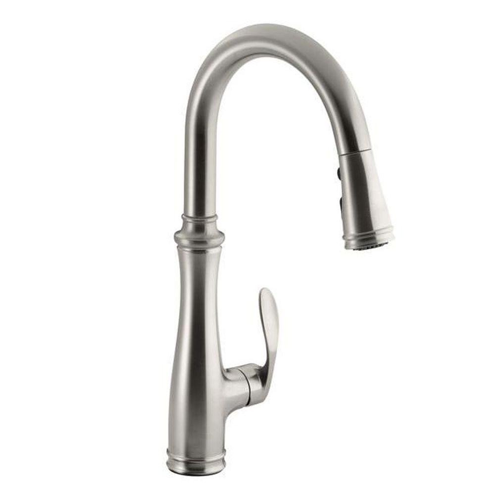 Faucets   KOHLER Kitchen Bellera 1 Or 3 Hole Single Handle Pull Down