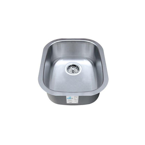"Allora USA - KSN-1518 - 15"" x 18"" x 8"" Stainless Steel Sink - KralSu Sink and Faucet Supplies"