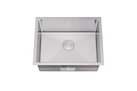 "Allora USA - KH-2318-R15 - 23"" x 18"" x 10"" Undermount Single Large Bowl Handmade Stainless Steel Kitchen Sink - KralSu Sink and Faucet Supplies"