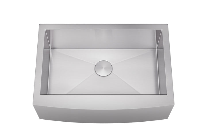 "Allora USA - KH-3021F - 30"" x 21"" Farmhouse Single Large Bowl Stainless Steel Kitchen Sink - KralSu Sink and Faucet Supplies"