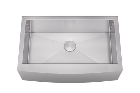 "Sinks - Allora USA KH-3321F  33"" X 21"" X 10"" Undermount Single Large Bowl Stainless Steel Farmhouse Kitchen Sink"