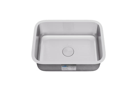"Allora USA - KSN-2318-16 - 23"" x 18"" x 9"" Undermount Single Bowl 16 Gauge Stainless Steel Kitchen Sink - KralSu Sink and Faucet Supplies"