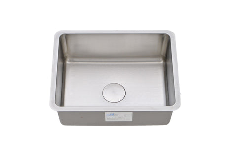 "Sinks - Allora USA KSN-2318 R25 23"" X 17 3/4"" X 9""  Undermount Single Bowl Stainless Steel Kitchen Sink With Radius 25"
