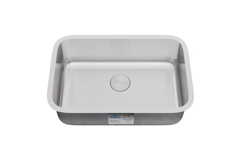 "Allora USA - KSN-2718 - 27"" x 18"" x 9"" Undermount Single Large Bowl Stainless Steel Kitchen Sink - KralSu Sink and Faucet Supplies"