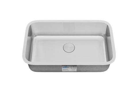 "Allora USA - KSN-3018-7 - 30"" x 18"" x 7"" Undermount Single Large Bowl Stainless Steel Kitchen Sink - KralSu Sink and Faucet Supplies"