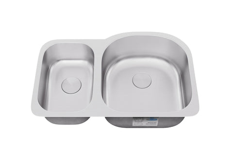 "Sinks - Allora USA KSN-3121R Undermount 30/70 Double Bowl Stainless Steel Kitchen Sink - 31"" X 20"" X 9"""