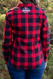 Long Sleeve Plaid Button-Down