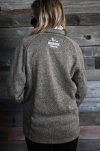 Load image into Gallery viewer, 1/4 Zip Sweater - Khaki Chair Embroidery