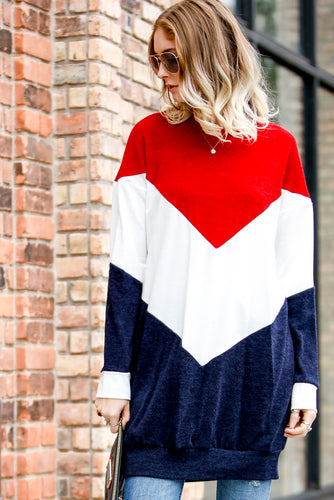 Robin Red Chevron Sweater Dress