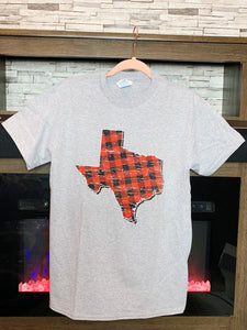 Buffalo Plaid Texas Tee